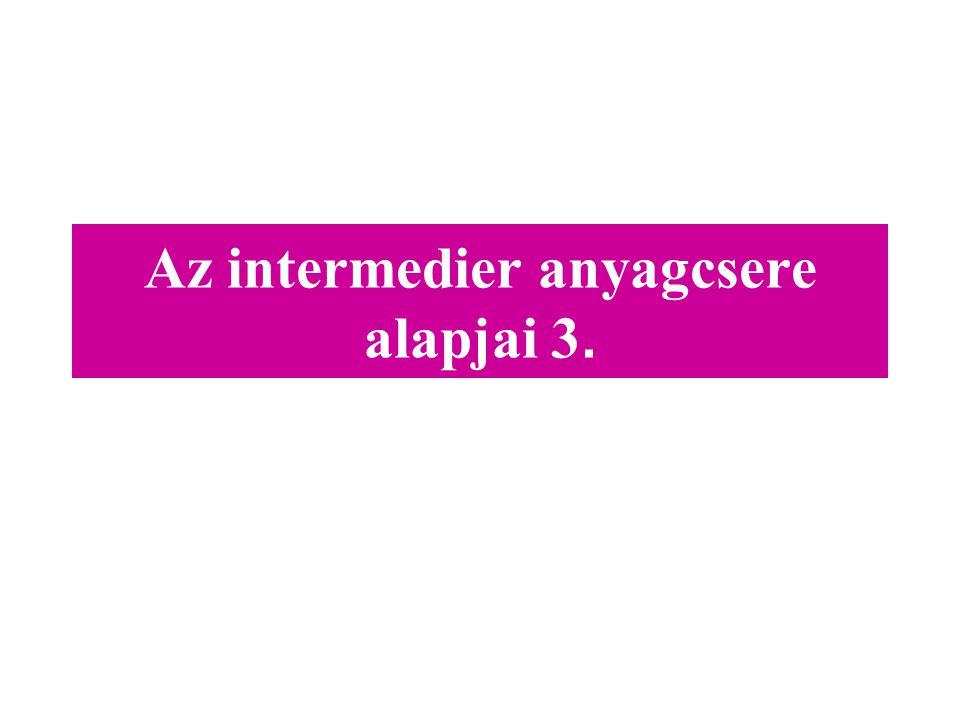 Az intermedier anyagcsere alapjai 3.