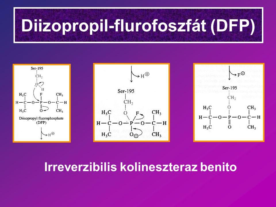 Diizopropil-flurofoszfát (DFP) Irreverzibilis kolineszteraz benito