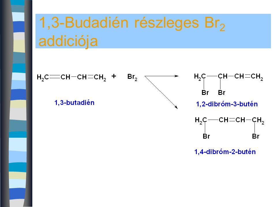 1,3-Budadién részleges Br 2 addiciója
