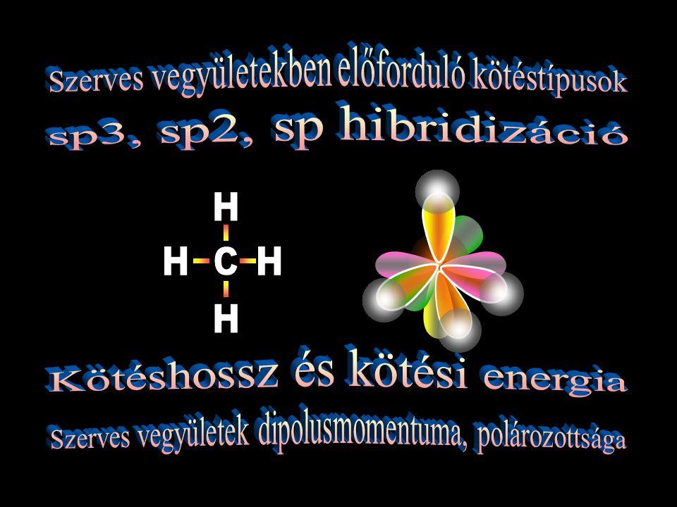 Kötéstávolság (kötéshossz): A két atommag közötti távolság.