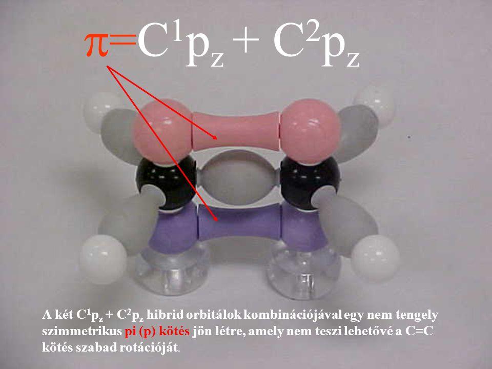  =C 1 p z + C 2 p z A két C 1 p z + C 2 p z hibrid orbitálok kombinációjával egy nem tengely szimmetrikus pi (p) kötés jön létre, amely nem teszi leh