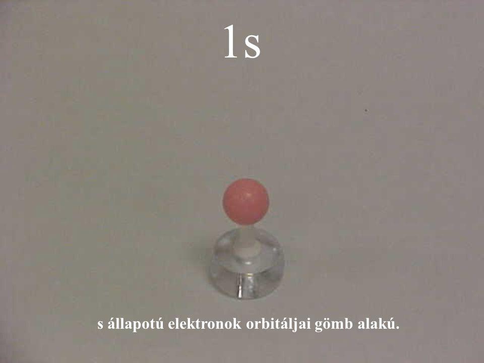 1s s állapotú elektronok orbitáljai gömb alakú.