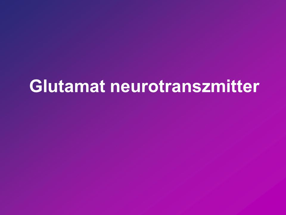 Glutamat neurotranszmitter