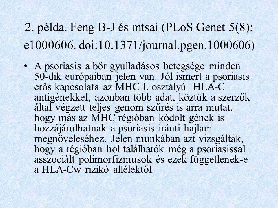 2.példa. Feng B-J és mtsai (PLoS Genet 5(8): e1000606.