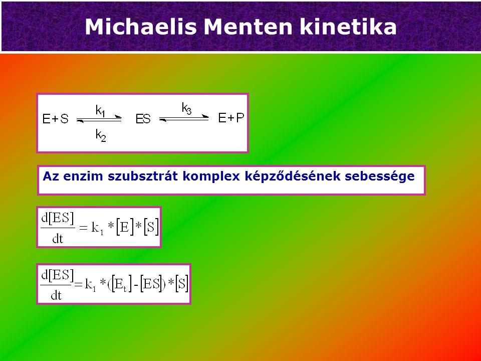 Michaelis Menten kinetika V MAX = K 3 * [E t ]