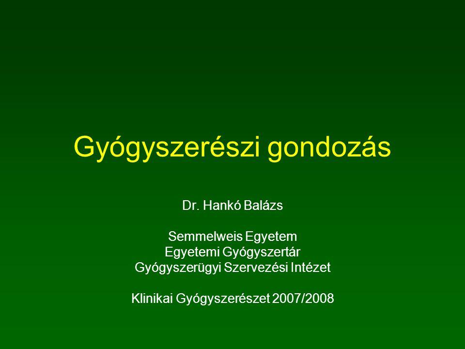 Gyógyszerészi gondozás Dr.