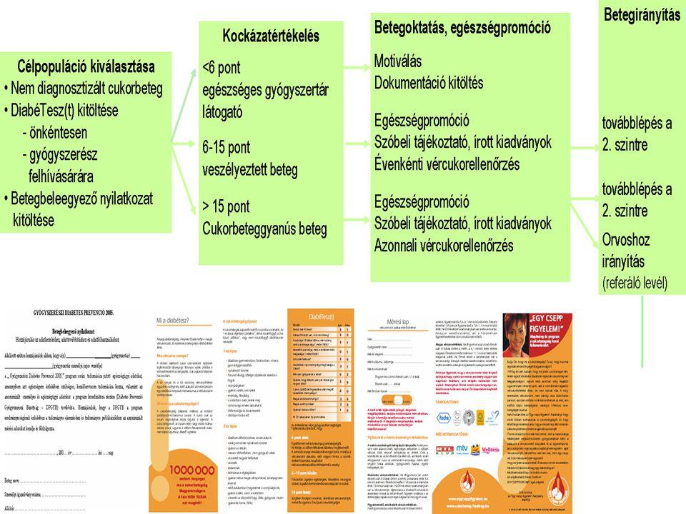 Gyógyszerészi Diabetes Prevenció folyamatleírása