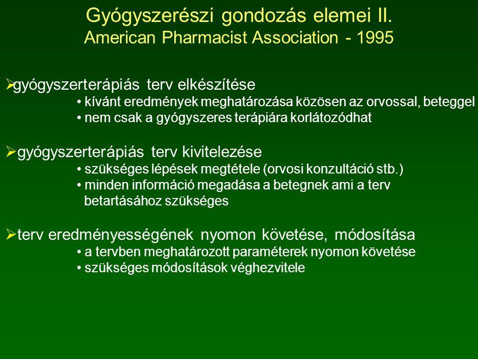 Gyógyszerészi gondozás elemei II.