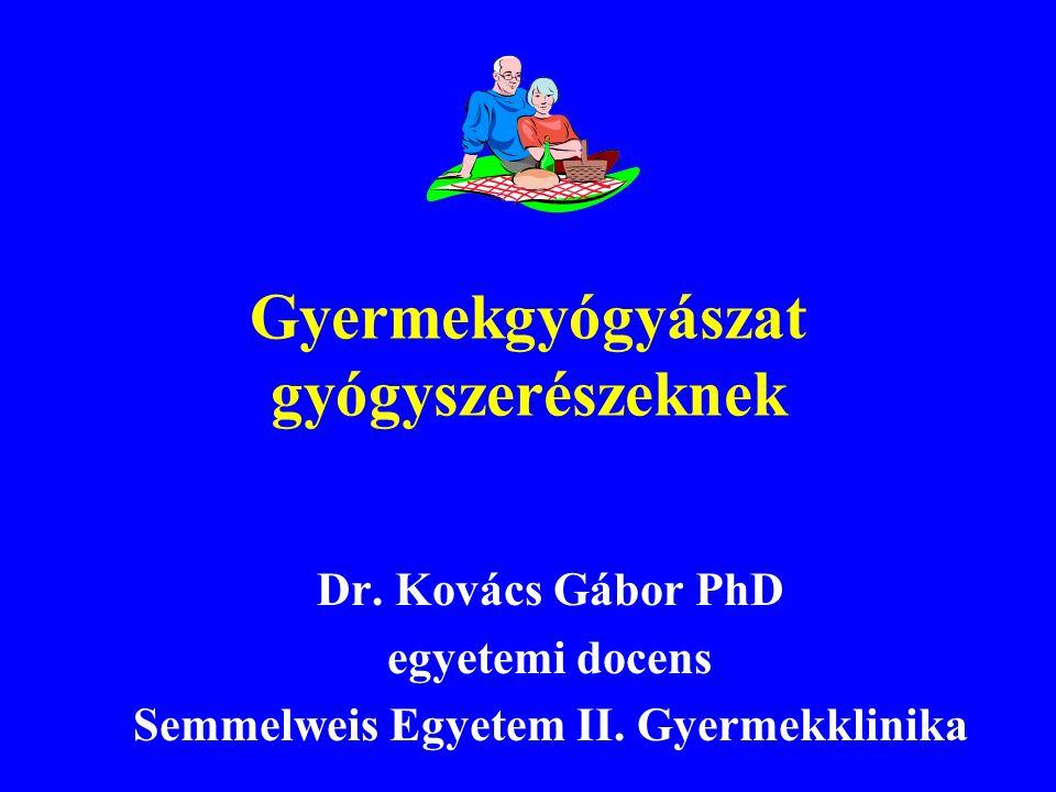 Lázas eclampsia Stabil oldalfekvés, légútbiztosítás, oxigén Diazepam Stezolid rectalis oldat (5-10 mg) Seduxen 0,1-0,5 mg/kg
