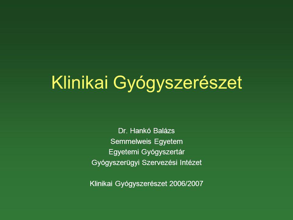 Klinikai Gyógyszerészet Dr.