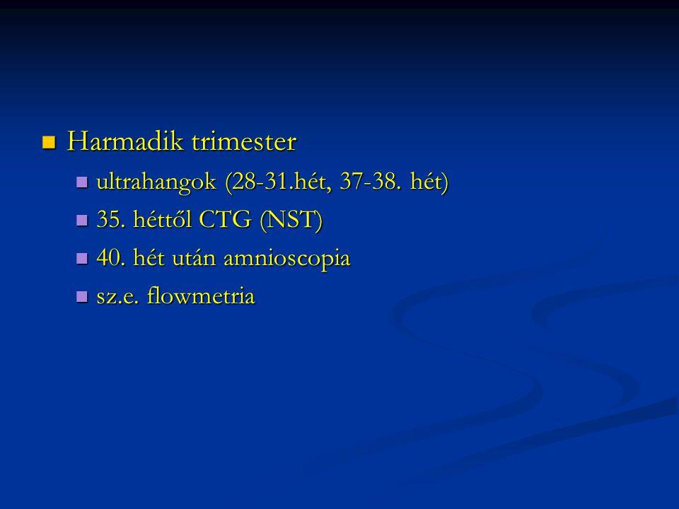Harmadik trimester Harmadik trimester ultrahangok (28-31.hét, 37-38.