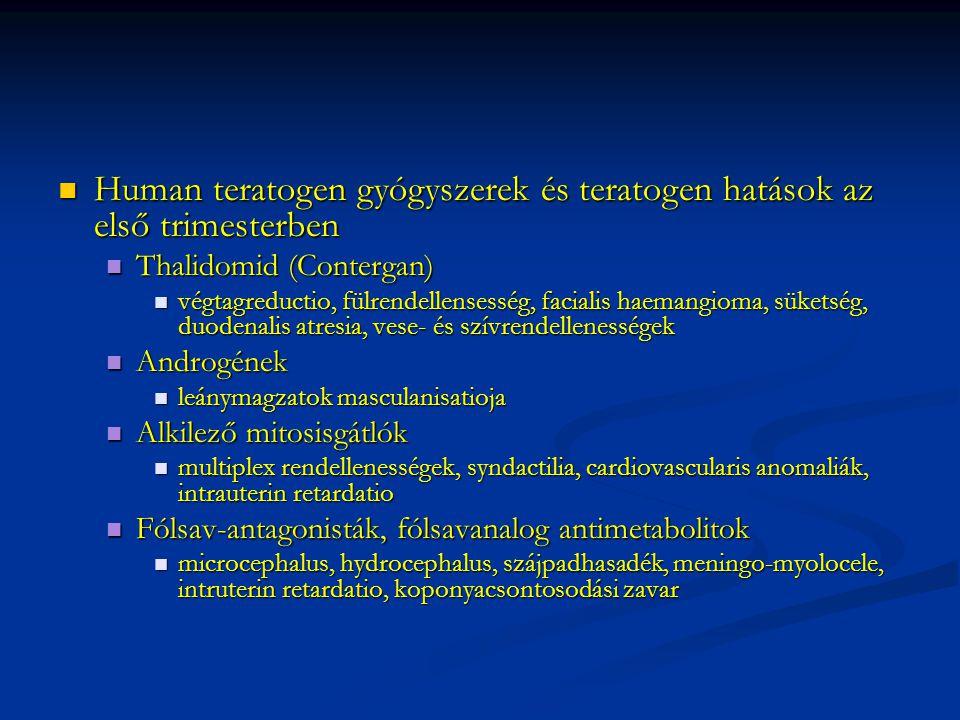 Human teratogen gyógyszerek és teratogen hatások az első trimesterben Human teratogen gyógyszerek és teratogen hatások az első trimesterben Thalidomid