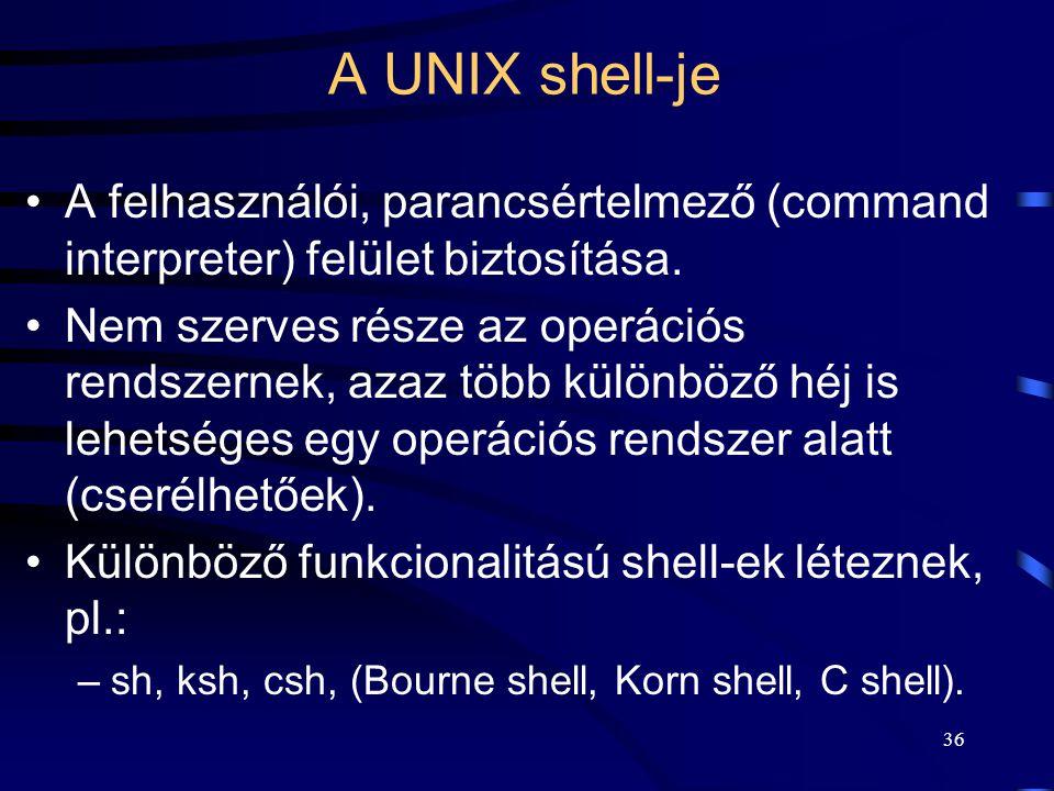 35 A UNIX shell-je