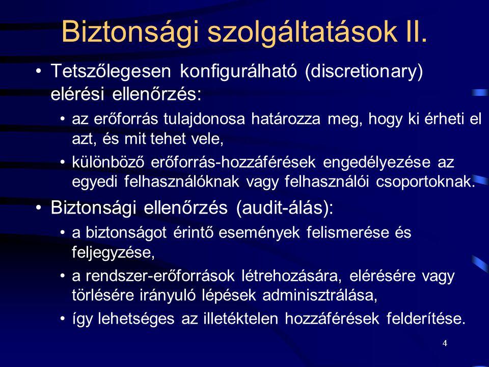 25 A biztonsági audit-álás I.