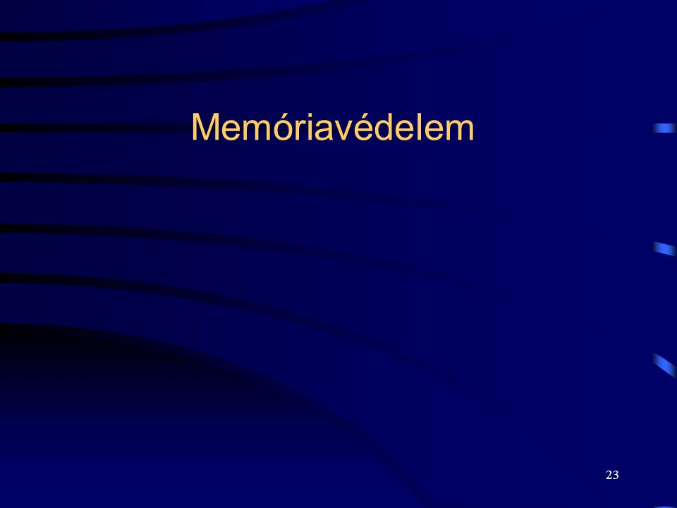 23 Memóriavédelem
