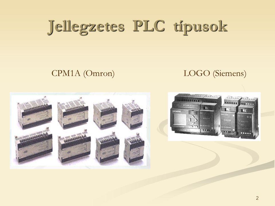 2 Jellegzetes PLC típusok CPM1A (Omron)LOGO (Siemens)