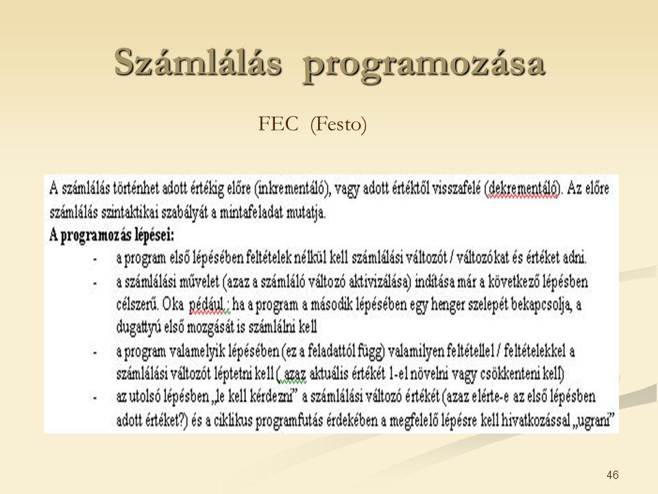 46 Számlálás programozása FEC (Festo)