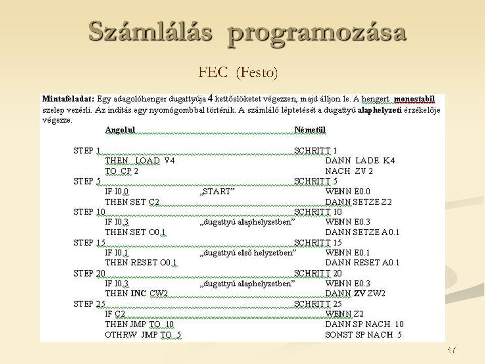 47 Számlálás programozása FEC (Festo)