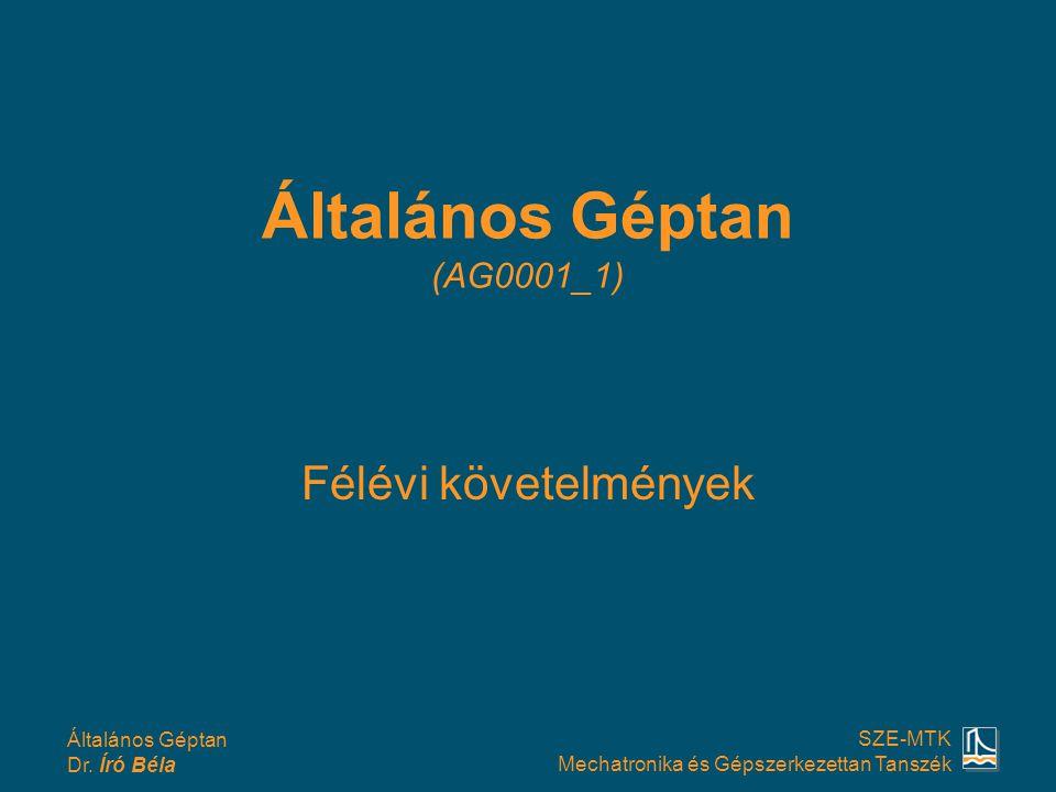 Általános Géptan Dr.