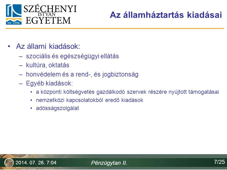 Alrendszerek Az államháztartási törvény 2010.