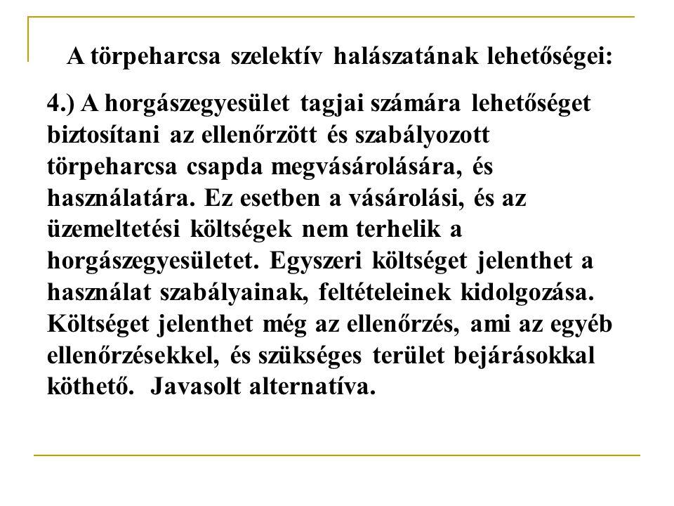 A törpeharcsa szelektív halászatának lehetőségei: 2.) Törpeharcsa csapdák vásárolása.