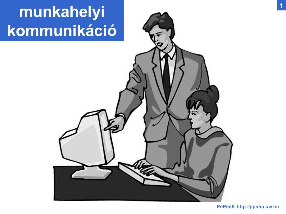 munkahelyi kommunikáció 1 PéPéeS http://ppshu.uw.hu