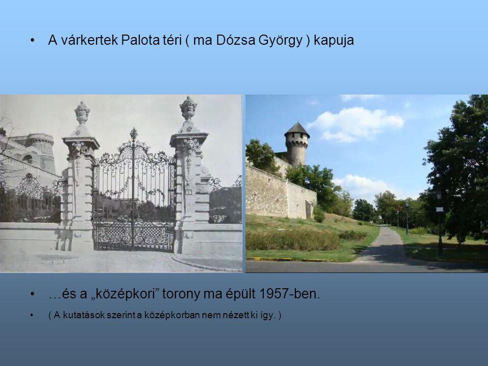 Díszkút Senyei Károly szobrával a Szarvas térhez közel ….sértetlen volt egészen 1962-ig.