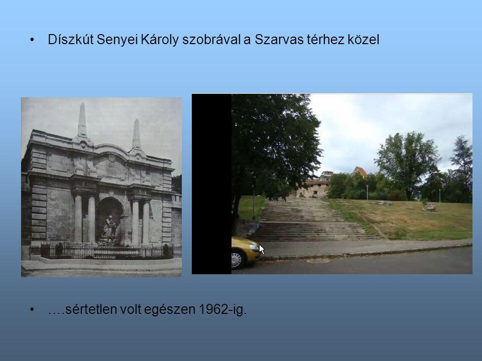 Az őrségépület az oroszlános kaputól jobbra ….sértetlen volt egészen 1975-ig.
