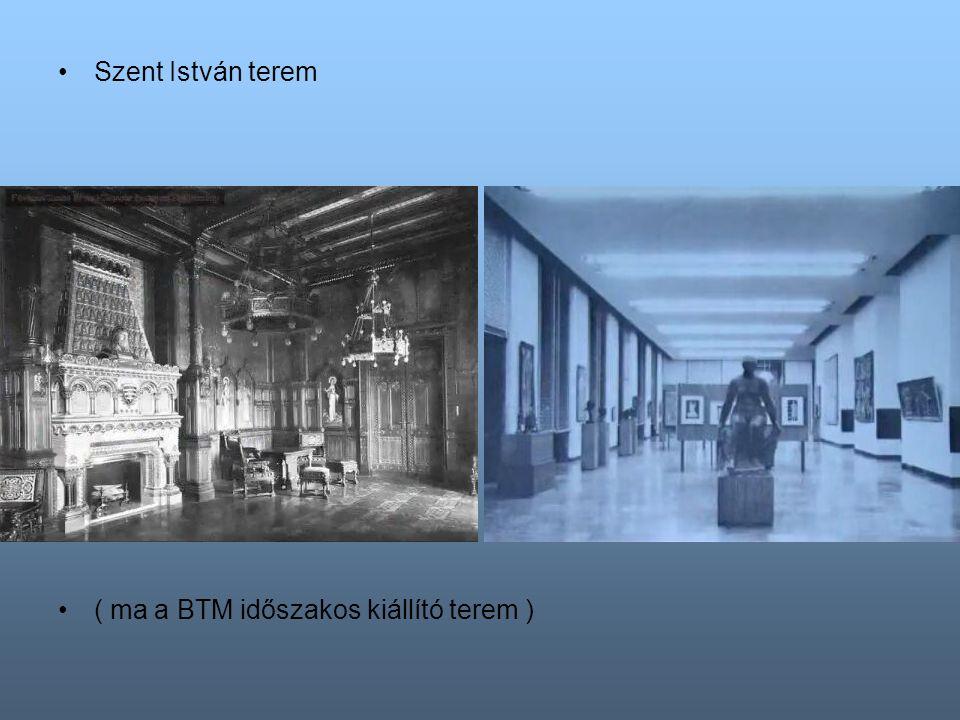A Trónterem ( ma a Galéria gótikus szárnyas oltárokat bemutató kiállítótere )