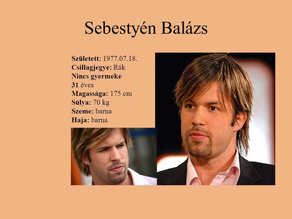 Sebestyén Balázs Született: 1977.07.18.