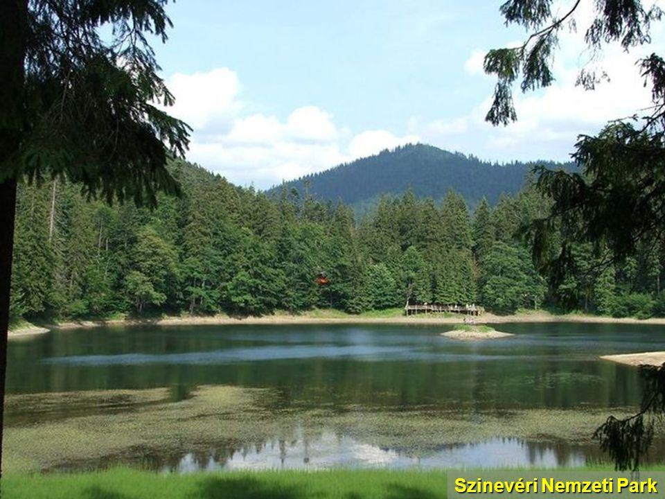 Szinevéri Nemzeti Park - Szín és Vér szobra a tó partján