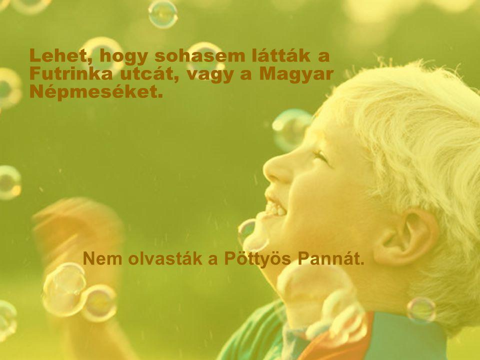Lehet, hogy sohasem látták a Futrinka utcát, vagy a Magyar Népmeséket. Nem olvasták a Pöttyös Pannát.