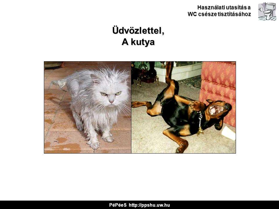 Üdvözlettel, A kutya Használati utasítás a WC csésze tisztításához PéPéeS http://ppshu.uw.hu