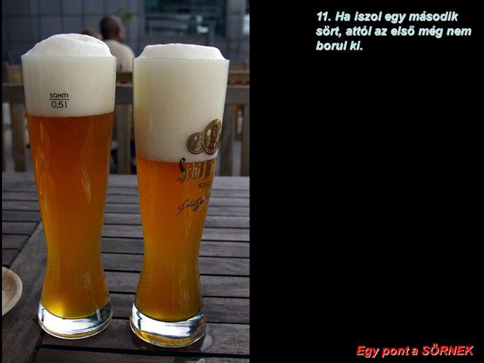 10. A legtöbb országban a sört megadóztatják. Egy pont a PUNCINAK Egy pont a PUNCINAK