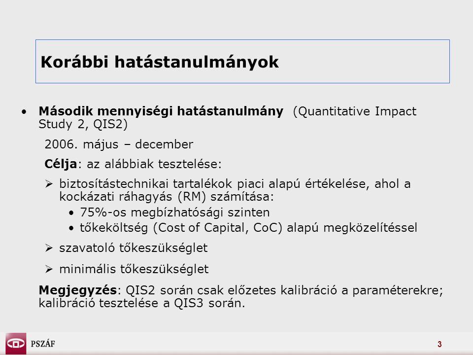 3 Második mennyiségi hatástanulmány (Quantitative Impact Study 2, QIS2) 2006.