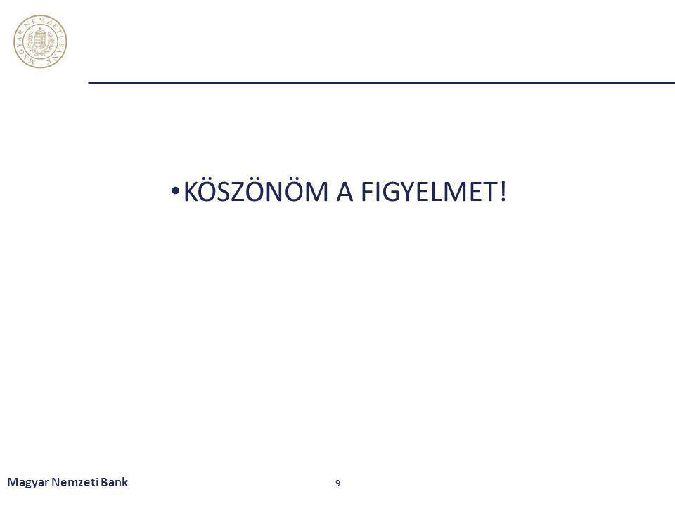 KÖSZÖNÖM A FIGYELMET! Magyar Nemzeti Bank 9