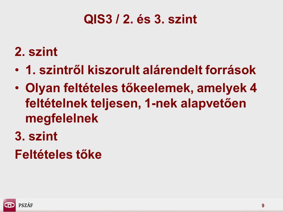9 QIS3 / 2. és 3. szint 2. szint 1.