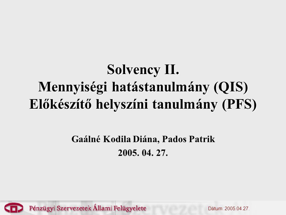 Dátum: 2005.04.27. Solvency II.