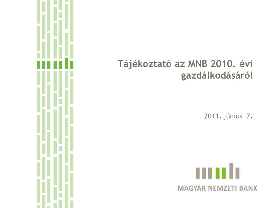 Tájékoztató az MNB 2010. évi gazdálkodásáról 2011. június 7.