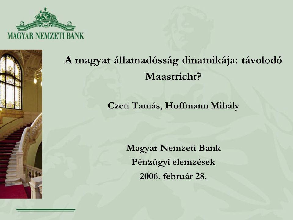 A magyar államadósság dinamikája: távolodó Maastricht.