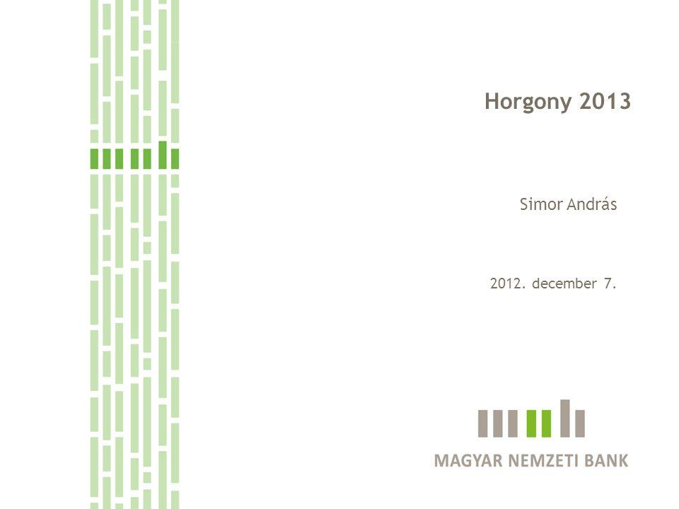 Horgony 2013 Simor András 2012. december 7.