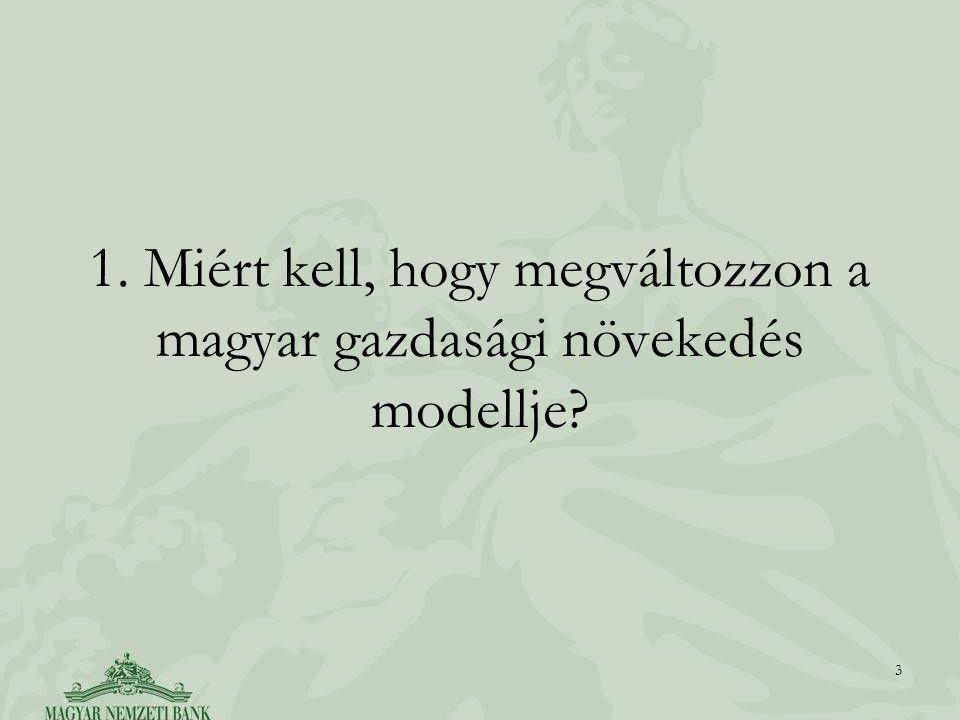 1. Miért kell, hogy megváltozzon a magyar gazdasági növekedés modellje? 3