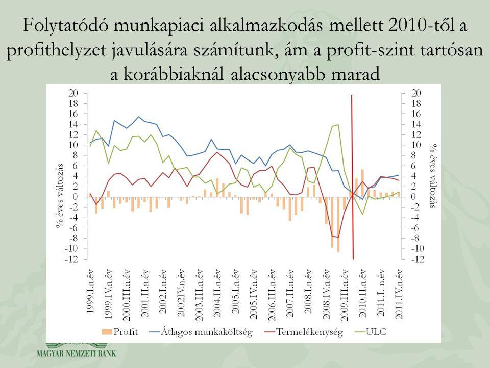 Folytatódó munkapiaci alkalmazkodás mellett 2010-től a profithelyzet javulására számítunk, ám a profit-szint tartósan a korábbiaknál alacsonyabb marad