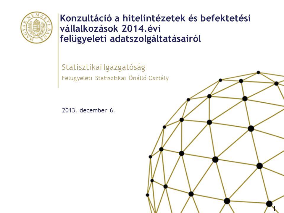 Tartalom I.2014.évi változások a hitelintézetek felügyeleti adatszolgáltatásaiban II.