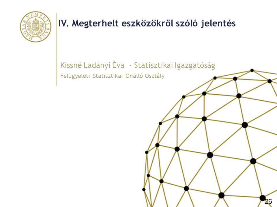 Megterhelt eszközökről szóló jelentés Célja: forrásbevonások fedezettségére vonatkozó adatok gyűjtése egy 2016-ig kialakítandó EBA irányelv megalapozására Jelentendő főbb eszköztípusok: – Repo megállapodással eladott eszköz, ha mérlegben megjelenített – Eszközfedezettel kibocsátott értékpapírok (pl.