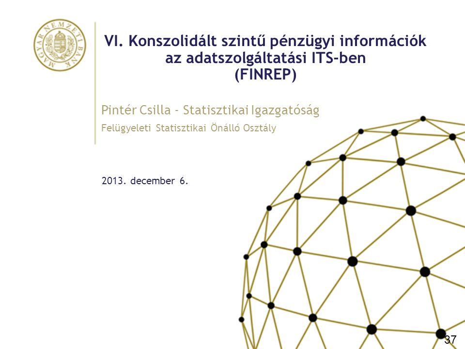 """Előzmények, a bevezetés célja, adatszolgáltatói kör és hatálybalépés Előzmények CEBS guideline (2005): pénzügyi információkat tartalmazó, konszolidált szintű, IFRS alapú jelentéscsomag a hitelintézetek számára Bevezetése nem kötelező """"Core táblák – """"non-core táblák A FINREP bevezetésének célja Az EU szinten egységes alapokon nyugvó adatszolgáltatás kialakítása Összehasonlíthatóság Azonos mutatórendszer kialakítása (Key Risk Indicators) Elemzések egységessé tétele Adatszolgáltatói kör az összevont felügyelet alá tartozó bankcsoportok (és befektetési vállalkozások csoportjai) a CRR által meghatározott körre, amely eltér a számviteli konszolidációs körtől (biztosítók és nem pénzügyi vállalatok!) Hatálybalépés 2014."""