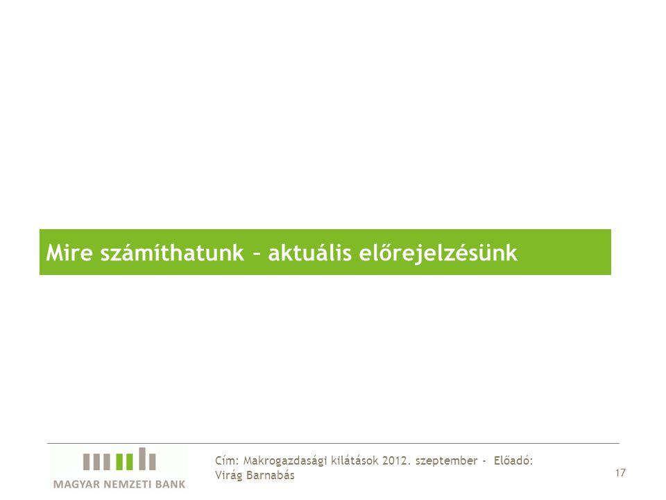 17 Cím: Makrogazdasági kilátások 2012.