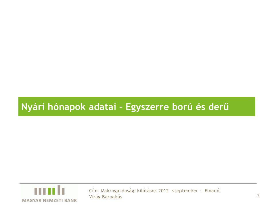 14 Cím: Makrogazdasági kilátások 2012.