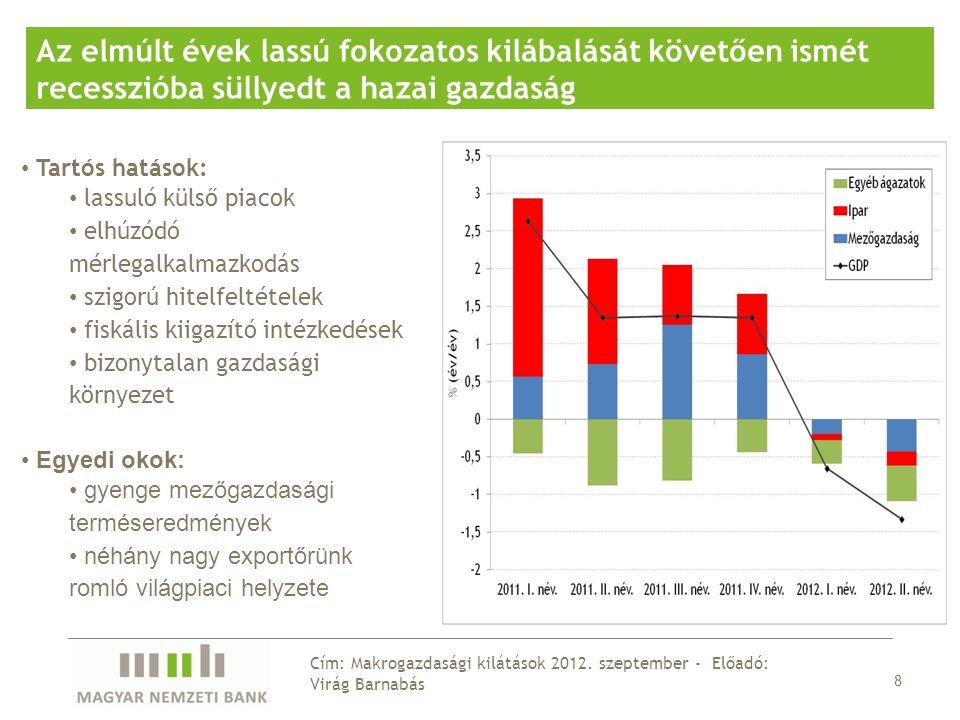 8 Cím: Makrogazdasági kilátások 2012.