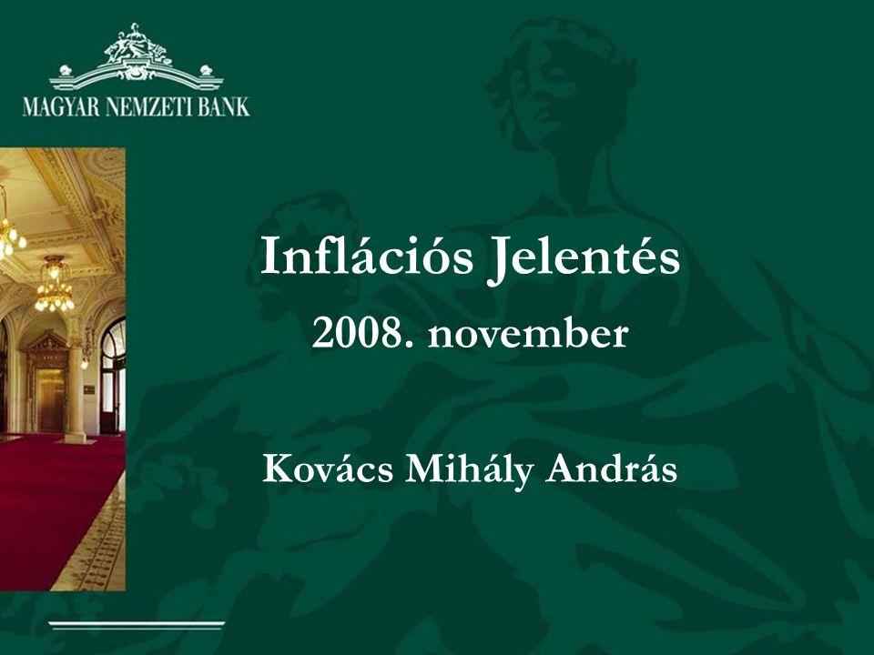 Inflációs Jelentés 2008. november Kovács Mihály András
